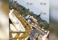Grave motociclista tras sufrir percance en puente a desnivel en Tecomán