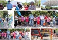 Elías Lozano entrega obras importantes en las comunidades de El Saucito y San Miguel del Ojo de Agua
