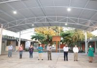 Entrega Ayuntamiento de Tecomán techumbre en Secundaria Lázaro Cárdenas, se invirtieron casi 2 millones de pesos