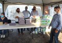 Lleva Salvador Bueno 1 mil, 400 kilos de huevo y 2 mil, 200 litros de leche a bajo costo a Cofradía de Juárez