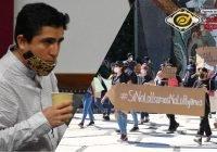 Exigen estudiantes que Vladimir Parra no se cuelgue de su movimiento