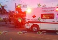 Tras choque, motociclistas resultan heridos en la lateral del Libramiento Griselda Álvarez, en VdeA
