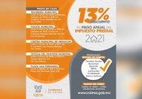 13% de descuento en el pago del predial, durante febrero, en el municipio de Colima