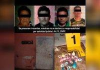 Por delitos contra la salud FGE detiene a cuatro hombres y asegura droga e inmueble