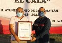 """Otorgan nombre de Guillermo Galván """"El Cala"""" a unidad deportiva sur de Coquimatlán"""