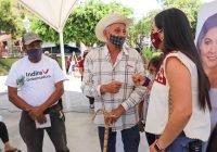 Excelente recepción a Indira Vizcaíno en Comala y Villa de Álvarez
