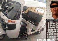 Conductor de moto taxi es detenido por delitos contra la salud