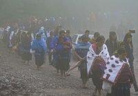 Mujeres indígenas se manifiestan en los Altos Chiapas con motivo del 8 de marzo
