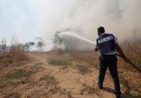 La Secretaría de Marina–Armada de México brinda apoyo para la sofocación de incendio en el Municipio de Manzanillo