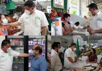 Rehabilitará Virgilio mercados de Colima, en equipo con locatarios.