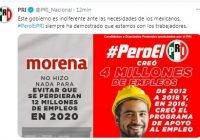 Morena abandonó a quienes perdieron su trabajo, pero el PRI es ejemplo de generación de empleos