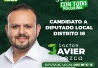 Javier Orozco Medina ya es candidato oficial a Diputado local por el Distrito 16 por el PVEM