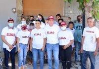 Gran recibimiento a Elías Lozano en recorrido por tres colonias de la cabecera municipal