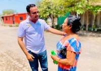 Se compromete Martín Pinto a bajar recursos para los ejidatarios en Cofradía de Morelos