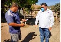 Carlos Carrasco visita plan de Zapote y el Galage