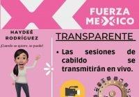 Todas nuestras sesiones de cabildo serán transmitidas en vivo; Haydeé Rodríguez
