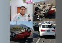 Muere en accidente vehícular, el joven Chuy Quezada; otra vez un trailer