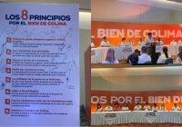 Presenta Locho Morán los 8 principios por el bien de Colima
