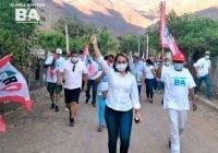 Blanca Acevedo recorre casa por casa el municipio de Ixtlahuacán, y va por el triunfo este 6 de Junio