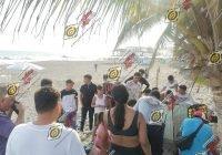 Rescatan a dos jóvenes de jalisco de las aguas marinas de la playa El Paraíso, en Armería