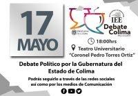 Invita IEE Colima a ciudadanía a ver y escuchar el Debate  Político por la Gubernatura el próximo lunes a las 6 de la tarde