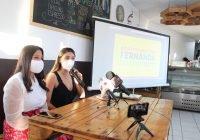 Fernanda Salazar realiza rueda de prensa para exponer sus propuestas de campaña