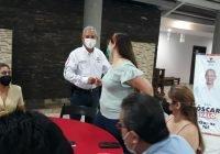 Óscar Avalos se compromete a mejorar las condiciones de los trabajadores de la salud