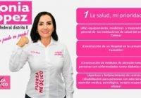 Priorizará Sonia López el sector salud ante el Congreso de la Unión