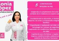 Trabajaré para que en Colima se recupere la paz y la seguridad de nuestra gente: Sonia López