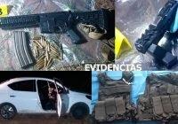 En Armería, asegura FGE armas de fuego y vehículo