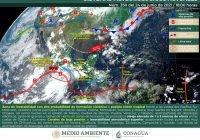 Habrá lluvias intensas en Jalisco, Colima y Michoacán; podría formarse ciclón tropical