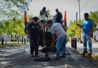 Ayuntamiento de Colima realiza trabajos de bacheo en vialidades dañadas por las últimas lluvias