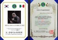 Colimense es invitado a participar como directoro honorario de la K-Orchestra en Corea