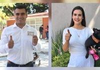Riult Rivera y Rosi Bayardo, virtuales ganadores de los distritos I y II Federal Colima