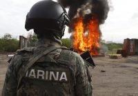 MARINA y FGR incineran más de 700 kilogramos de cocaína asegurada en Michoacán