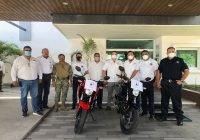 Dona comunidad portuaria motocicletas a vialidad municipal