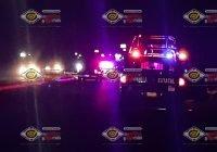 Se registra fuerte accidente automovilístico en el crucero a Caleras, en Tecomán
