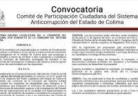Emiten convocatoria para integración del comité del sistema anticorrupción