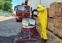 Autoridades Federales llevan a cabo la inactivación de Benzaldehído en el Puerto de Manzanillo, Colima