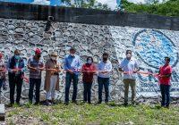 Presidenta de Minatitlán inaugura tanque de almacenamiento de agua potable.