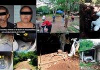 Implicados en fosas clandestinas en Juluapan, son detenidos con armas de fuego.