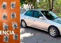 Fiscalía asegura un vehículo con droga en Manzanillo, Colima.