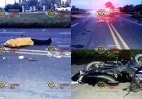Muere motociclista tras ser impactado cerca del crucero de 'La Primavera', en Tecomán