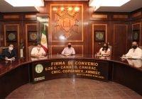 Firma UdeC convenios de colaboración con cámaras empresariales de Colima