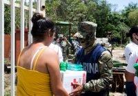 PERSONAL DE LA SECRETARÍA DE MARINA-ARMADA DE MÉXICO ENTREGA  DESPENSAS EN COORDINACIÓN CON LA CRUZ ROJA DELEGACIÓN  MANZANILLO