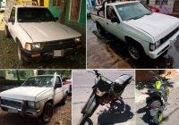 Fiscalía de Colima Recupera 3 camionetas y 2 motocicletas robadas