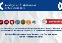 Convocan al premio de NarrativaColima para obra publicada 2021