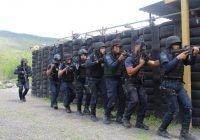 Capacita SSP a policías municipales como fuerzas de reacción.