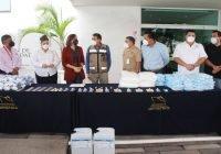 Refuerzan acciones anticovid con equipo y material donado por la comunidad portuaria