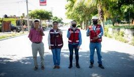 Griselda Martínez Le cumplimos a Marimar, entregamos pavimentación de concreto hidráulico